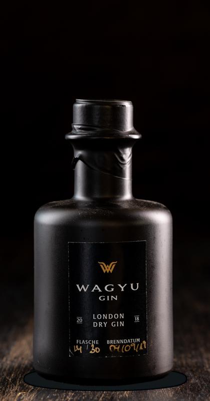 kleine Wagyu Gin Flasche